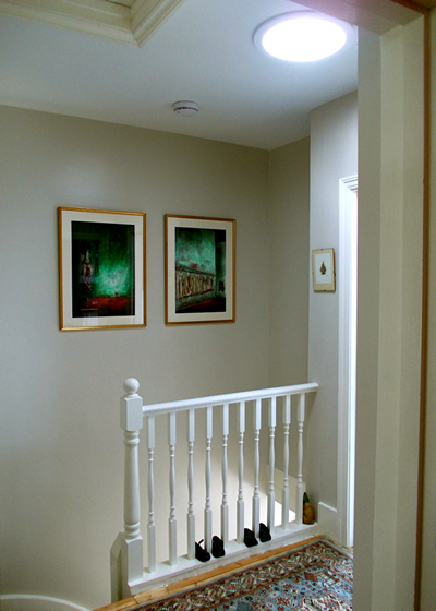 Sun Effects Tubular skylights work great in stairwells, hallways, and closets!
